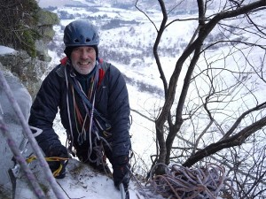 Mike on the crags
