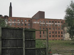 Macintosh Factory still visible from Oxford Road Station