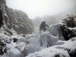 Climbing in poor weather needs durable, high performance clothing